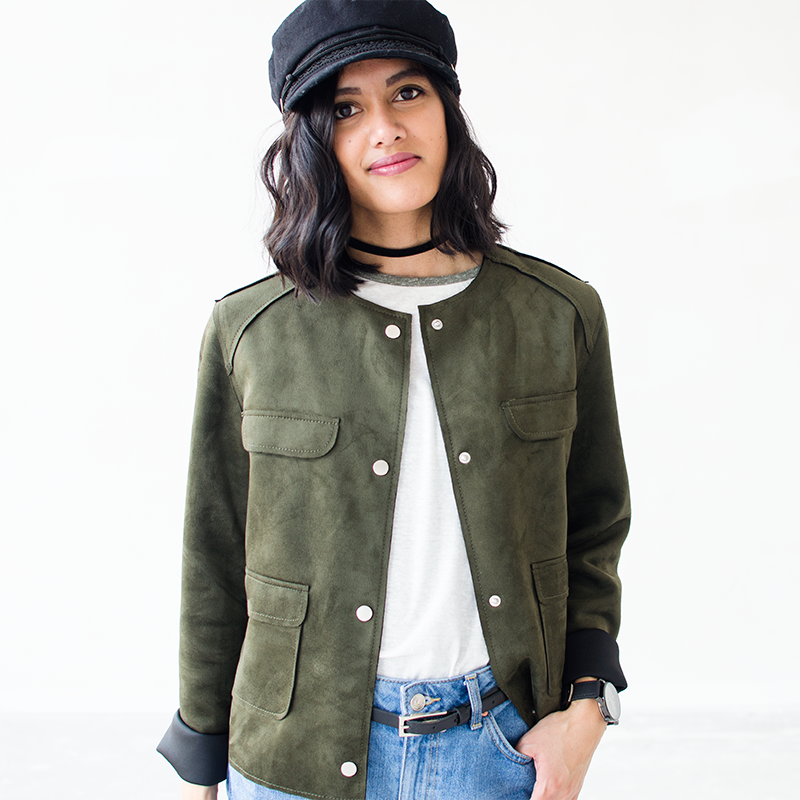 Outfit Green Baseball Jacket 3