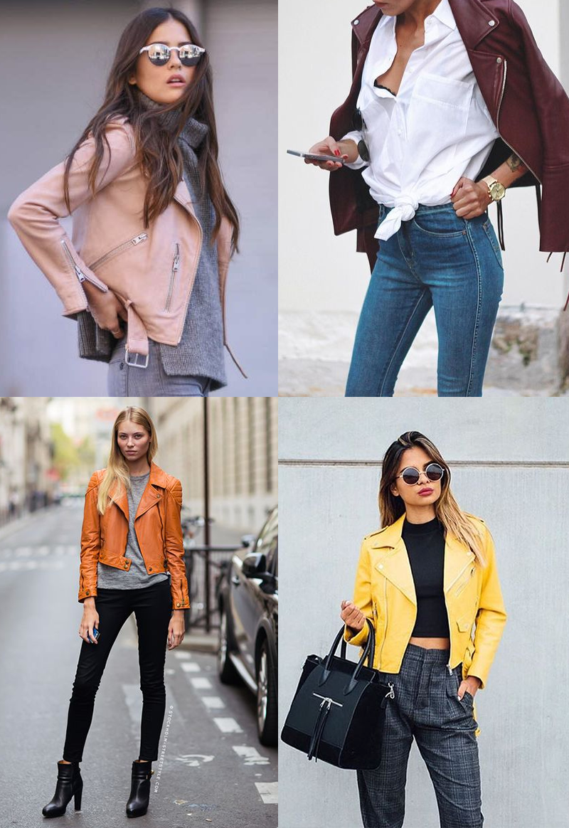 Trend Coloured leather jackets