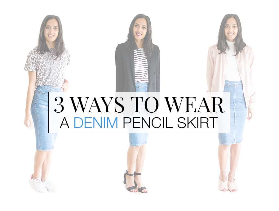 3 ways to wear Denim kokerrok