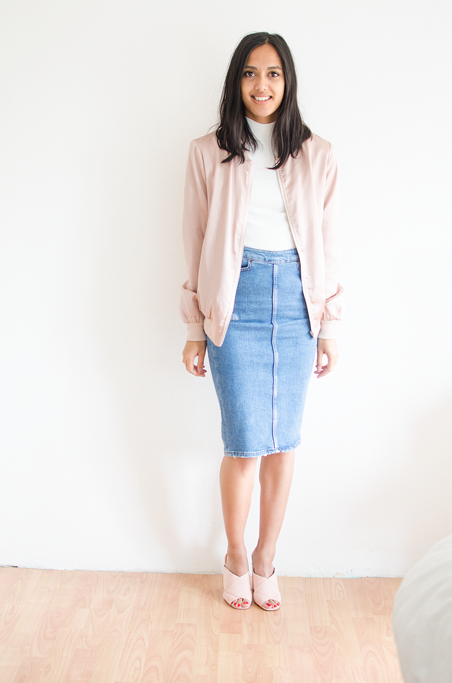 Outfit 3 Denim kokerrok - casual&chic