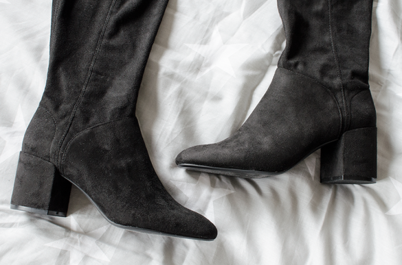 Fall fashion favorieten - Overknee boots Bershka