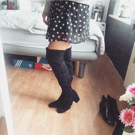 Overknee boots Bershka