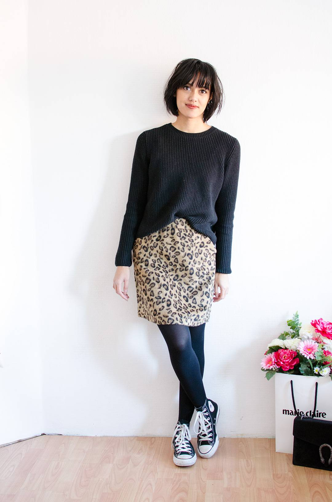 Outfit leopardprint skirt