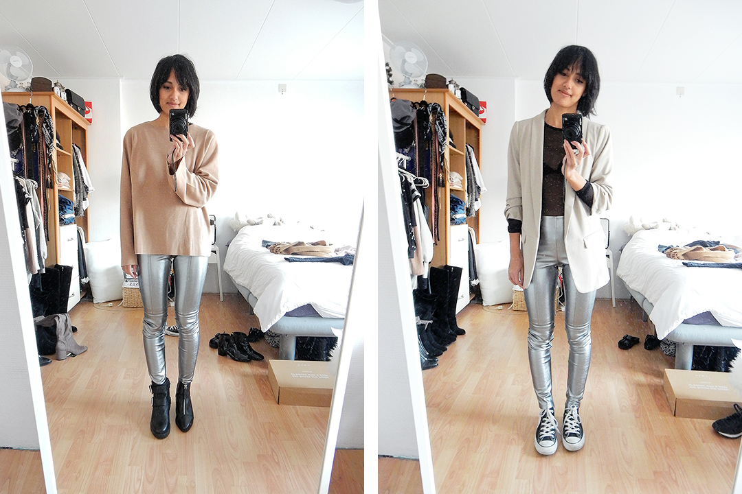 Styling silver pants
