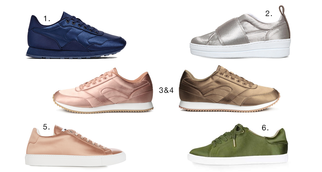 Trend satin sneakers