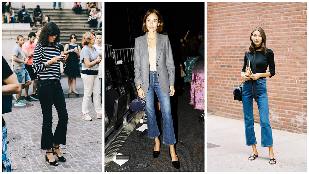 Jeans trends 2017 Kick flare jeans