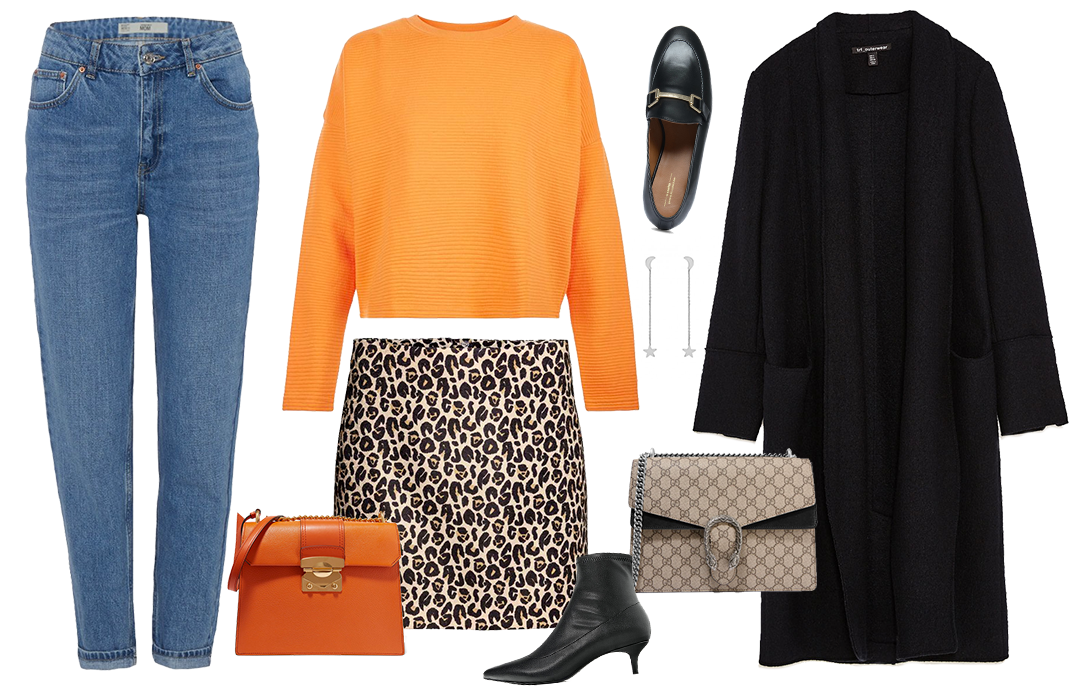 Outfit | Oranje sweater