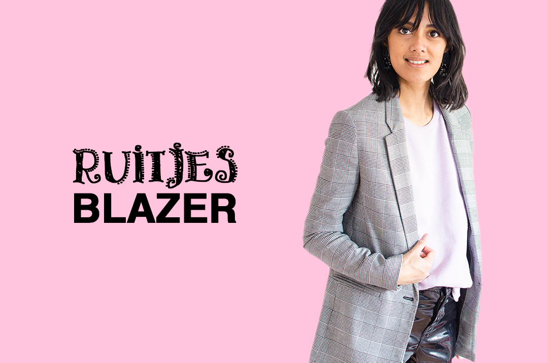Fashion trends ruitjes blazer