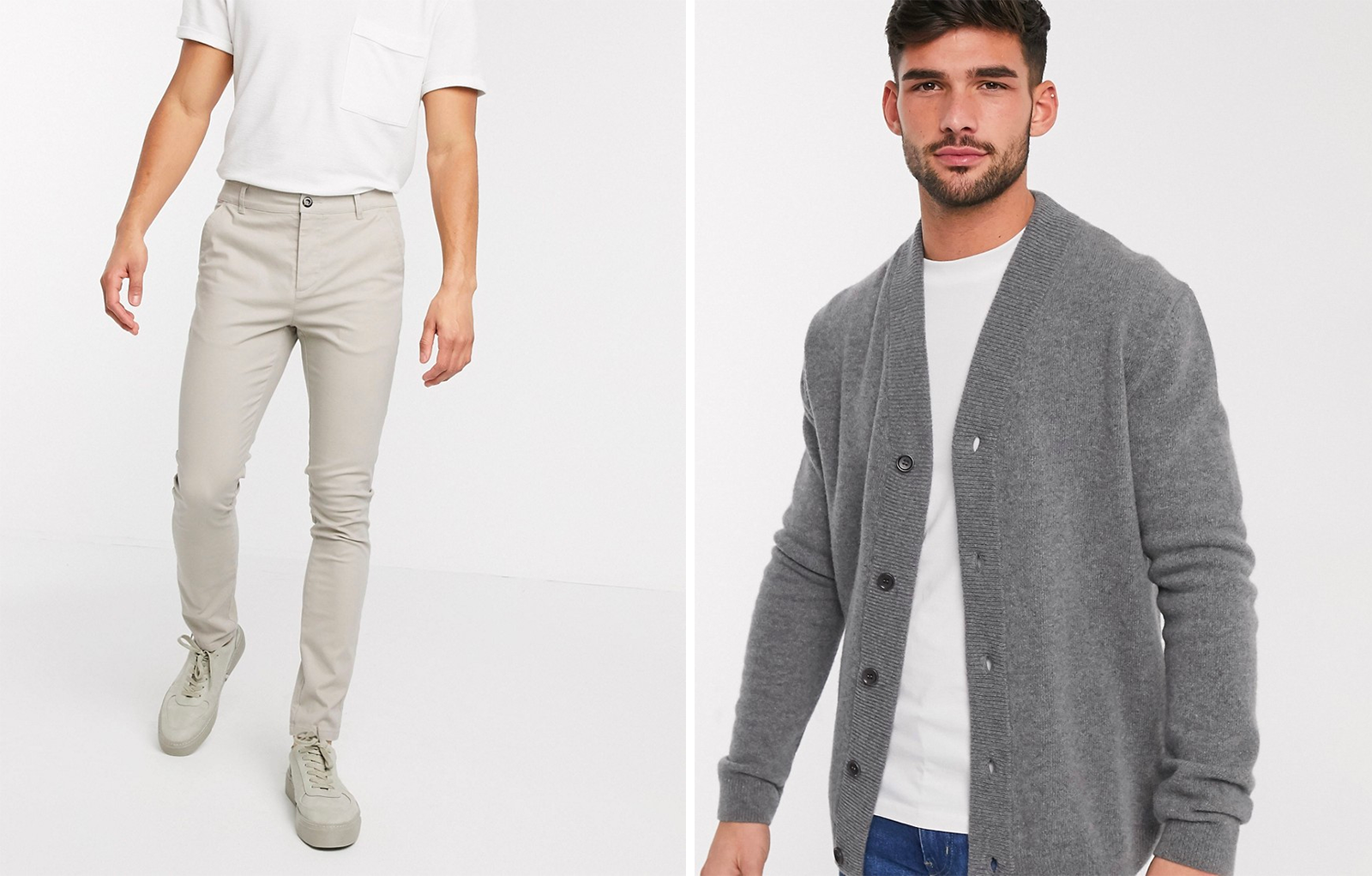 Smart Casual mannen chino's & cardigans